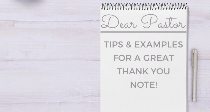 Pastor thank you note tips and examples