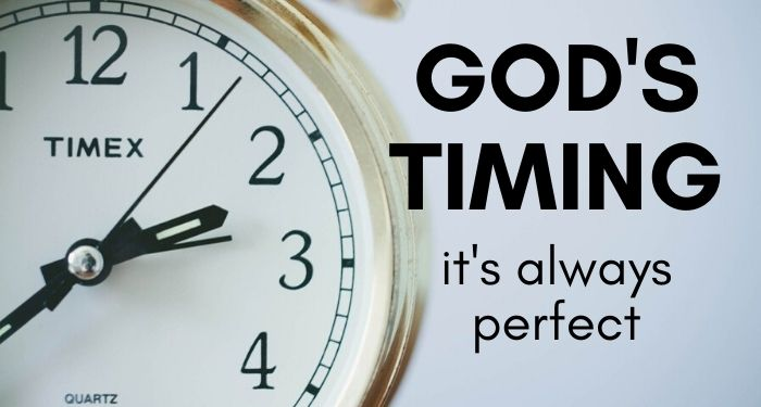 Gods timing is perfect